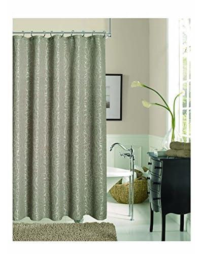 Dainty Home Miranda Shower Curtain, Taupe
