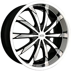 DIP Slack D66 Black Wheel with Machined Face and Lip (20×8.5″)