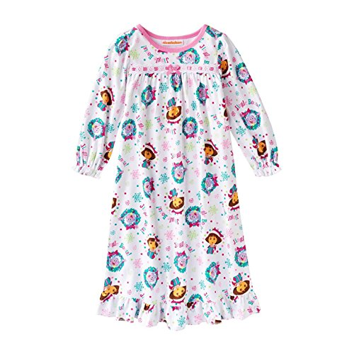 """Dora The Explorer """"Jingle Boots"""" Flannel Christmas Nightgown - 3T front-1045907"""