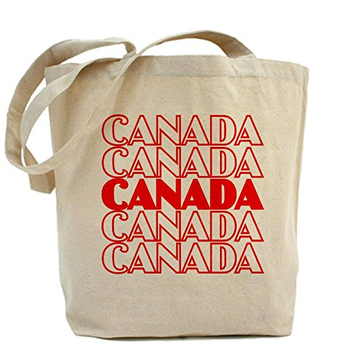 CafePress - Canada Tote Bag - Natural Canvas Tote Bag, Cloth Shopping Bag (Canada Longsleeved Shirt compare prices)