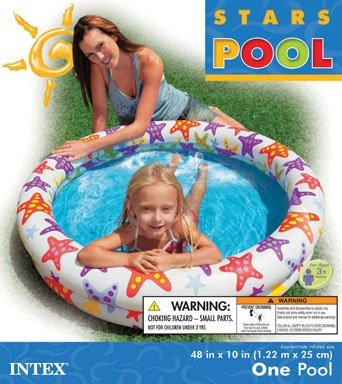 Inflatable Pools 48 X 10 Inflatable Stars Kiddie 2 Ring Circles Swimming Pool By Intex Review