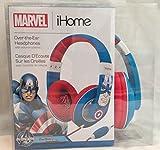 eKids MC-M402 Marvel Avengers Captain America Over Ear Headphones with Volume Control, by iHome