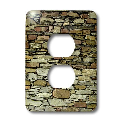 Lsp_82734_6 Danita Delimont - Patterns - England, Lake District, Stone Pattern - Eu33 Cmi0069 - Cindy Miller Hopkins - Light Switch Covers - 2 Plug Outlet Cover