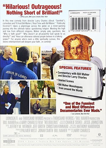 religoulous documentary A documentary film is a nonfictional motion picture intended to document some aspect of reality,  food, inc, earth, march of the penguins, religulous,.