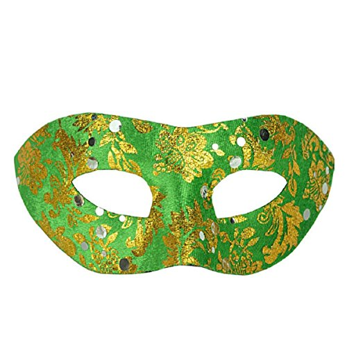 [VESNIBA Sexy Crown Elegant Eye Face Mask Masquerade Ball Carnival Fancy Party (green)] (Fancy Dress Contact Lenses)