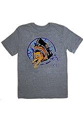 Pineapple Express Saul Silver Shark Eating Kitten Gray Adult T-shirt Tee
