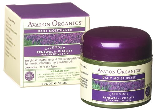 Avalon Organics Daily Moisturizer, Lavender Renewal & Vitality, 2-Ounces (Pack of 2)