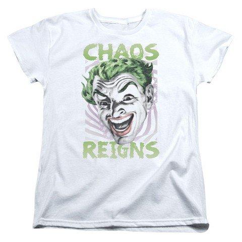 maikeerBatman Classic Live-Action TV Series Joker Chaos Reigns Women's T-Shirt Tee