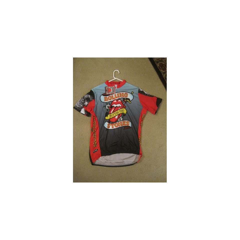 Primal Wear ~ Rolling Stones ~ Tattoo You Cycling Jersey Mens Short Sleeve 1eef64f27