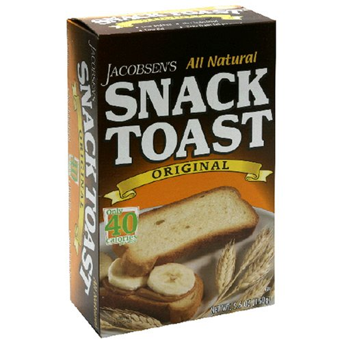 Buy Jacobsen Toast Original Snack Toast, 5.6-Ounce Packages (Pack of 12) (Jacobsen Toast, Health & Personal Care, Products, Food & Snacks, Snacks Cookies & Candy, Snack Food, Crackers)