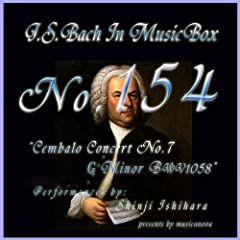 Bach In Musical Box 154 / Cembalo Concert No7 G Minor Bwv1058