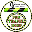 Hula Hoops - Large Weighted Travel Hula Hoop (Black/UV Yellow) For Exercise, Dance & Fitness -NO Instructions needed! SAME DAY DISPATCH!