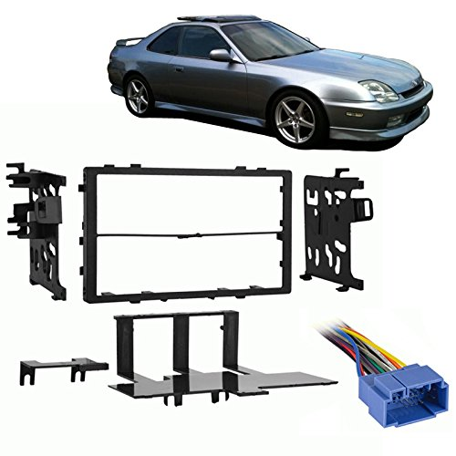 Fits Honda Prelude 1999-2001 Double DIN Stereo Harness Radio Install Dash Kit (Honda Prelude Stereo compare prices)