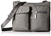 Baggallini Everything Travel Crossbody Bag, Pewter/Che, One Size