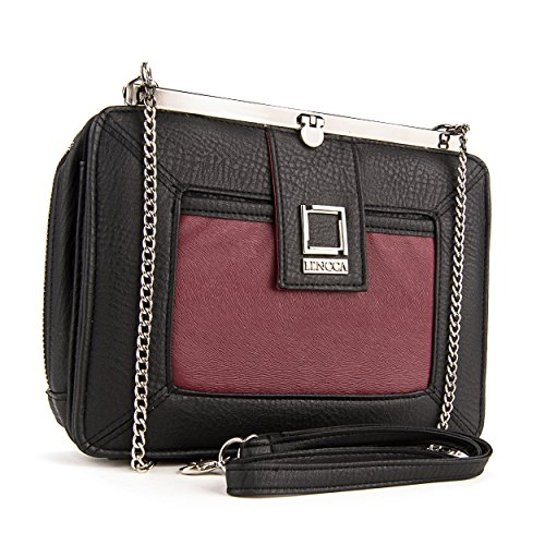 lencca-esvivina-vegan-leather-crossbody-smartphone-clutch-wallet-purse-with-shoulder-strap-black-win