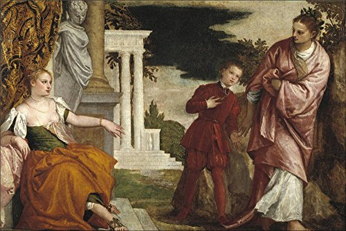 The Polyster Canvas Of Oil Painting 'Veronese Paolo Youth Between Vice And Virtue Ca. 1581 ' ,size: 10 X 15 Inch / 25 X 38 Cm ,this Reproductions Art Decorative Prints On Canvas Is Fit For Living Room Decor And Home Decor And Gifts (Vice Vapor compare prices)