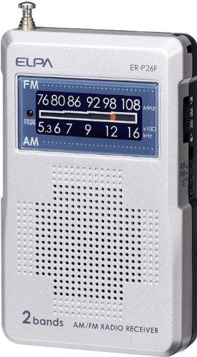 ELPA AM/FMコンパクトラジオ ER-P26F