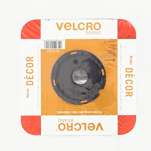 Velcro Fabric Fusion Tape 1'' X 5 Yds. Black front-548263