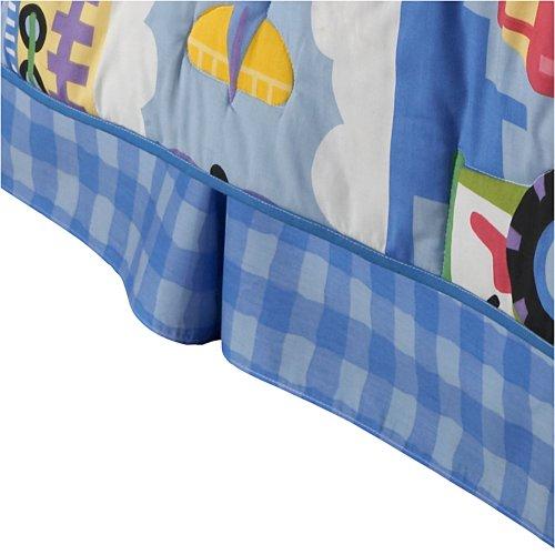 Olive Kids Bedskirt Full, Blue