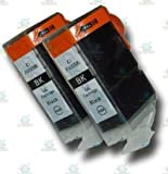 2 Chipped Black Compatible Canon PGI-5Bk Ink Cartridges for Canon Pixma MP600 Printer
