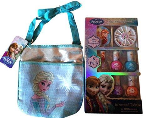 Disney Princess Frozen Elsa Perfect Gift Set for Girls with purse and nail polish kit (Nail Polish Handbag compare prices)