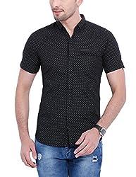 Vintage Black Slim fit Shirts