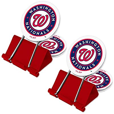 MLB Washington Nationals MyFanClip Multi Purpose Clips (Pack of 2)