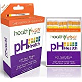 HealthyWiser Ph Test Strips, 100ct Per Pack Accurate Results in 15 Seconds + FREE Alkaline Food Chart PDF. Monitor Your Ph Daily