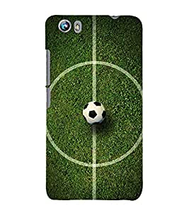 Football 3D Hard Polycarbonate Designer Back Case Cover for Micromax Canvas Fire 4 A107