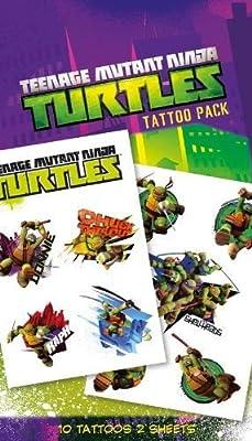 Teenage Mutant Ninja Turtles Shellheads Temporary Tattoo Pack