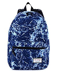 HotStyle TrendyMax Electric Pattern Kids School Backpack Fits 15-inch Laptop, Navy