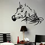 Horse Head - Horse Wall Sticker / Lage Interior Decor / Horse Wall Transfer HO2