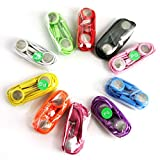 Wholesale Lots 10 Pack Earphone Headphone with Mic for Iphone 3g 4g 4s 3gs 3g Mp3(1 Each Color) by LY-TECH