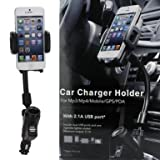 FlyStone® Dual USB Car Charger Cradle Mount Holder for Iphone 5 4s/4 Samsung Galaxy S3 Note 2