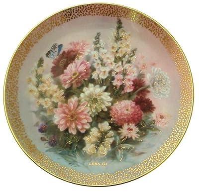 c1992 Lena Liu Zinnia Finale Symphony of Shimmering Beauty plate CP1567