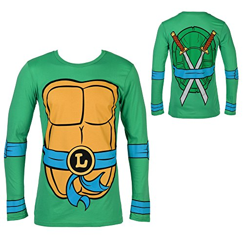 Teenage Mutant Ninja Turtles Leonardo Costume Longsleeve Adult T-Shirt