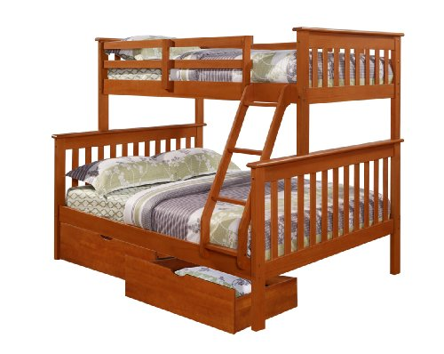 Stunning Bunk Bed Twin over Full Mission Style in Espresso with Drawers Where to buy derese riwul