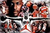 (24x36) Michael Jordan Wings Collage Vintage Sports Poster Print