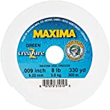 Maxima Fishing Line One Shot Spools, Treazure Green, 8-Pound/330-Yard