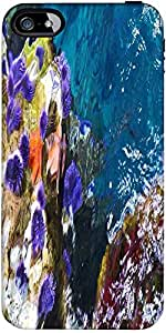 Snoogg abstract underwater Hard Back Case Cover Shield ForForApple Iphone 5C / Iphone 5c