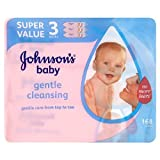 Johnson's Baby Gentle Cleansing Triple Pack Wipes 3 x 56 per pack
