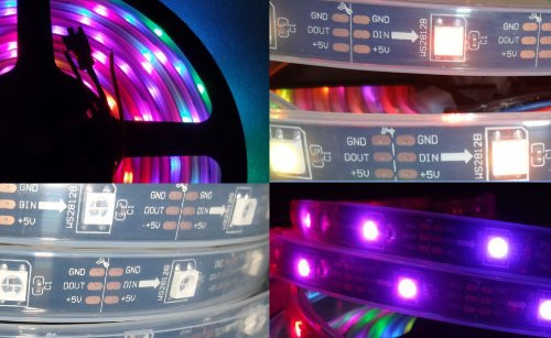*SALE* 5m Black PCB 5VDC Ws8212b 30/m Led Pixel Strip, Ip68, Waterproof in Silicone Tube