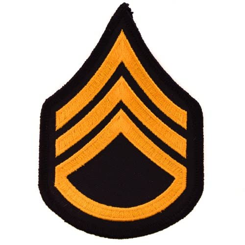 US Army SSgt E6 Staff Sergeant 4 inch Embroidered Chevron Rank Patch