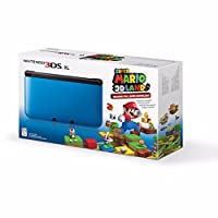 Nintendo 3DS XL Console with Super Mario 3D Blue by Nintendo
