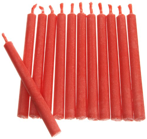 Wilton Red Color Flame Candles, 12 Count - 1