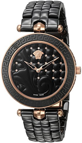 Versace-Womens-Vanitas-Swiss-Quartz-Stainless-Steel-and-Ceramic-Casual-Watch-ColorBlack-Model-VAO050016
