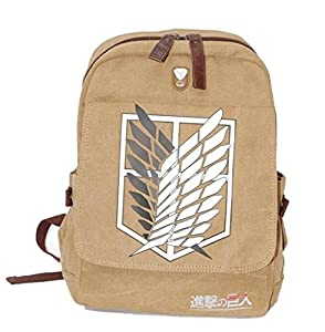 Backpacks Large Capacity Attack on Titan Backpack Canvas Rucksack on Sale B