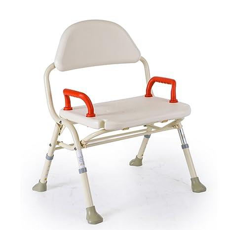 Sedia da doccia Sedia a sdraio Old People Sedia da doccia Altezza alluminio Altezza regolabile pieghevole