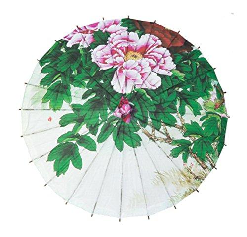 handmake-classique-papier-pivoine-patten-parapluie-parapluie-photographie-props