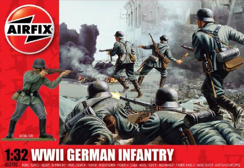 Airfix A02702 1:32 Scale German Infantry Figures Classic Kit Series 2 - 1